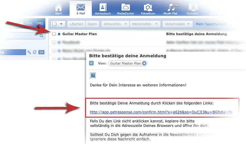 E-Mail öffnen. Klick auf den Link. Fertig!