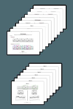 Phrasing Control Bonus 1 - Pentatonik + Dur-Tonleiter Griffbrett Diagramme