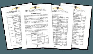 Phrasing Control Bonus 4 - Übungspläne