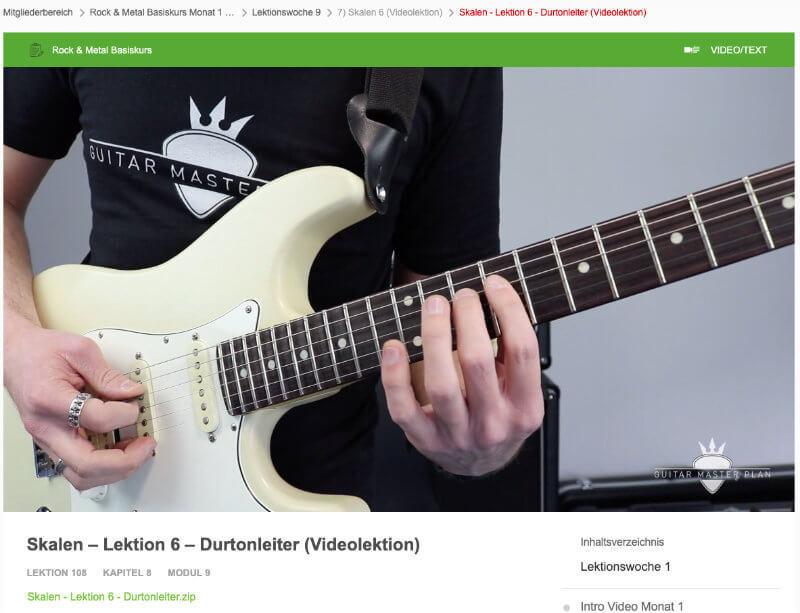 Rock und Metal Basiskurs Videolektionen