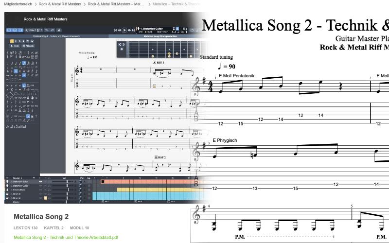 Rock und Metal Riff Masters Songanalyse