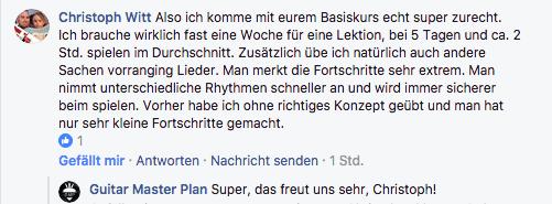 Guitar Master Plan Erfahrung Christoph Witt