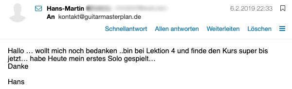 Guitar Master Plan Erfahrung Hans Martin 1