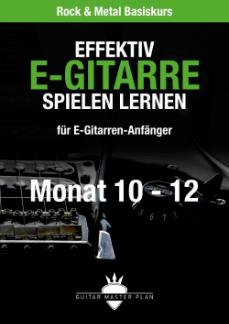 Guitar Master Plan Rock und Metal Basiskurs ebook Monat 10 - 12 2