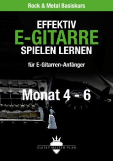 Guitar Master Plan Rock und Metal Basiskurs ebook Monat 4 - 6 2