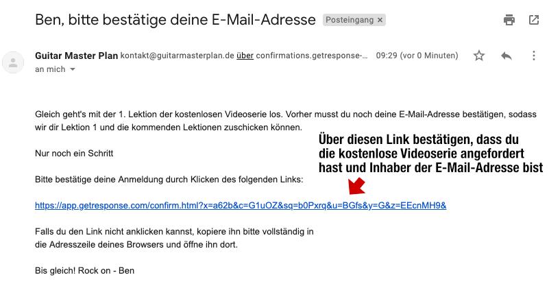 RMBK Free Videoserie Email Bestätigen